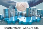 merger and acquisition business ... | Shutterstock . vector #684671536
