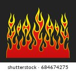 fire flames  red and yellow... | Shutterstock . vector #684674275