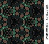 hexagonal symmetry vector... | Shutterstock .eps vector #684678106
