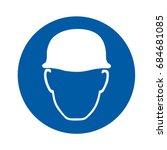 wear helmet sign | Shutterstock .eps vector #684681085