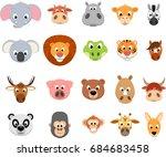 vector illustration vector set... | Shutterstock .eps vector #684683458