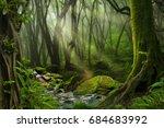 asian rain forest | Shutterstock . vector #684683992