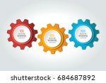 three elements chart  scheme ... | Shutterstock .eps vector #684687892