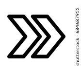 double chevron arrow | Shutterstock .eps vector #684687952