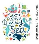 sea vector background | Shutterstock .eps vector #684690988