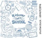 set of different school... | Shutterstock .eps vector #684692896