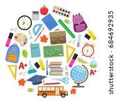 set of different school... | Shutterstock .eps vector #684692935