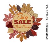 autumn sales banner with fall... | Shutterstock .eps vector #684696766