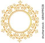 gold vintage baroque element... | Shutterstock .eps vector #684699028