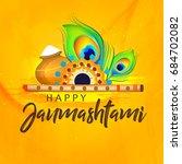 happy janmashtami  beautiful...   Shutterstock .eps vector #684702082