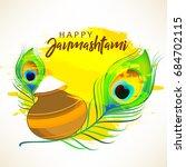 happy janmashtami design... | Shutterstock .eps vector #684702115