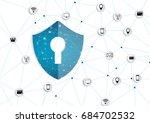 internet security online... | Shutterstock .eps vector #684702532