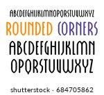 sanserif font in new gothic... | Shutterstock .eps vector #684705862