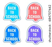 back to school. set of alarm... | Shutterstock .eps vector #684707662