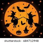 halloween vector elements set.... | Shutterstock .eps vector #684712948