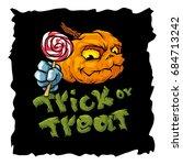 trick or treat cartoon vector...   Shutterstock .eps vector #684713242