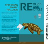 stop ocean plastic pollution... | Shutterstock .eps vector #684722272