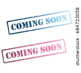 coming soon rubber stamp icons... | Shutterstock .eps vector #684723058