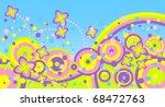 abstract summer background.... | Shutterstock .eps vector #68472763