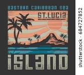 caribbean beach illustration ... | Shutterstock .eps vector #684727852