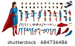 isometric set of gestures of... | Shutterstock .eps vector #684736486
