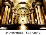 Catholic Cathedral Interior ...