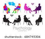 the psychologist and the client.... | Shutterstock .eps vector #684745306