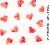 Watermelon Pattern On White...