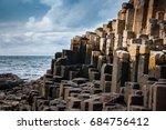 giants causeway on north... | Shutterstock . vector #684756412