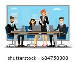 team of successful business... | Shutterstock .eps vector #684758308