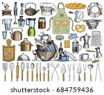 apron or pinaphora and hood ... | Shutterstock .eps vector #684759436