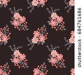 elegant candy trendy pattern in ... | Shutterstock .eps vector #684761686
