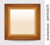 empty gold frame on transparent ... | Shutterstock .eps vector #684763075