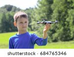 child playing with drone...   Shutterstock . vector #684765346