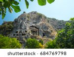 fethiye rock tombs   4th bc... | Shutterstock . vector #684769798