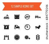 set of 12 editable vehicle... | Shutterstock .eps vector #684770146