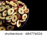 processed gods crown fruit cut... | Shutterstock . vector #684776026