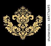 golden vector pattern on a... | Shutterstock .eps vector #684776695