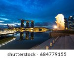 merlion  singapore   15 june... | Shutterstock . vector #684779155