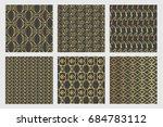 luxury golden pattern set of
