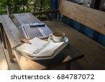 concept laptop  smartphone ... | Shutterstock . vector #684787072