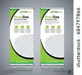 roll up brochure flyer banner... | Shutterstock .eps vector #684797866