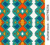 ethnic style seamless pattern... | Shutterstock .eps vector #684798256