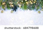 christmas snow background. | Shutterstock . vector #684798688