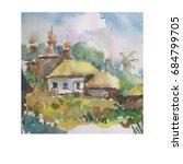 watercolor art background... | Shutterstock . vector #684799705