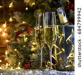 christmas rustic background...   Shutterstock . vector #684799942