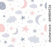 nursery baby seamless pattern. ... | Shutterstock .eps vector #684804526
