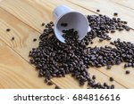 coffee beans placed on a white... | Shutterstock . vector #684816616