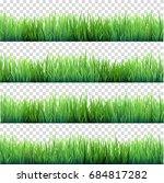 grass isolated on transparent... | Shutterstock .eps vector #684817282