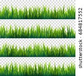 grass isolated on transparent... | Shutterstock .eps vector #684817552